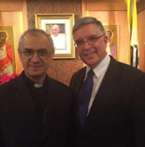 Amb. Tweddell with Archbishop Giuseppe Pinto