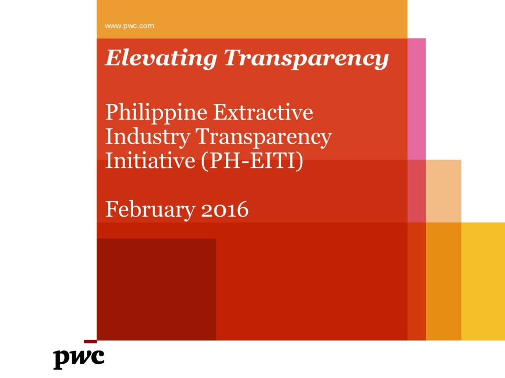EITI Results (Foreign Chamber) - February 2016 1
